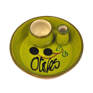 Ceramic Olive Dish - Green