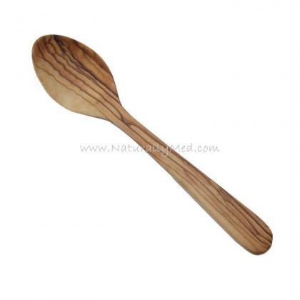 """Olive Wood Dessert Spoon - 8"""""""