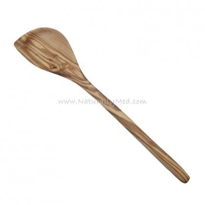 Olive Wood Wooden Corner Spoon / Spatula