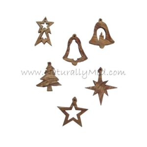 Christmas Tree Decorations Made From Olive Wood