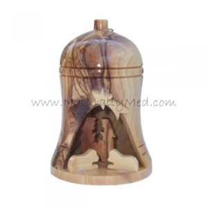 Olive Wood Nativity Inside Bell Made in The Holy Land