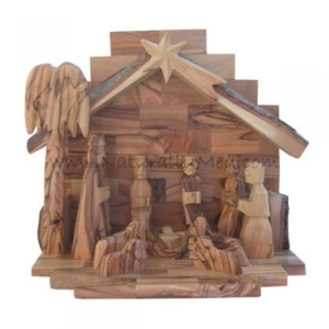 Naturally Med Olive Wood Nativity