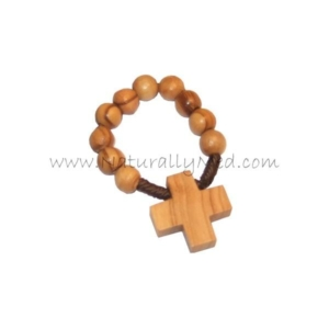 Olive Wood Finger Rosary Ring