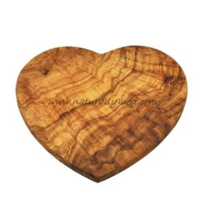 Olive Wood Heart Shaped Board
