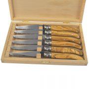 Olive Wood Steak Knives