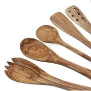 Olive Wood Spoons and Utensils Set