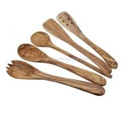 Olive Wood Utensil / Cutlery / Spoon Set - 5 Pieces