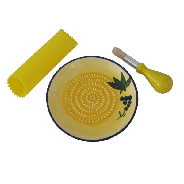 Ceramic Garlic Grater Plate Set