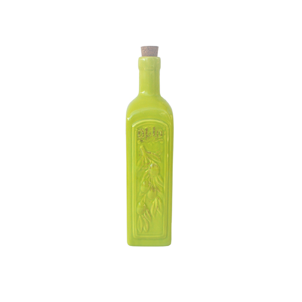 Ceramic Olive Oil Bottle - Green