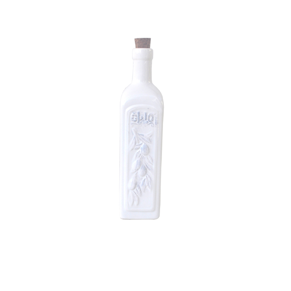 Ceramic Olive Oil Bottle - White