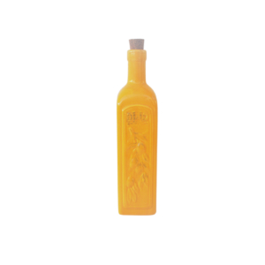 Ceramic Olive Oil Bottle - Yellow