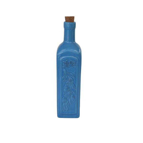 Ceramic Olive Oil Bottle - Blue