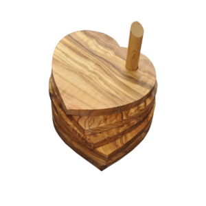 Olive Wood Heart Coasters