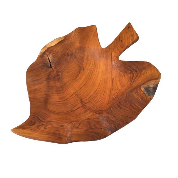 Teak Leaf Shape Bowl