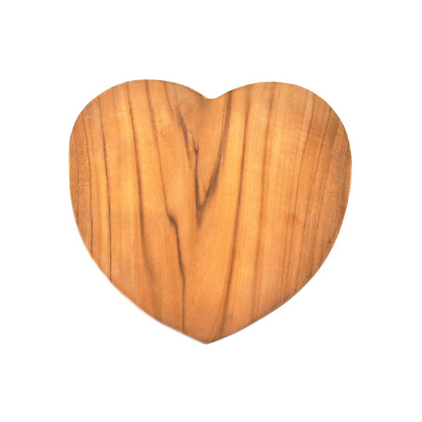Teak Heart Shaped Board