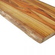 Teak Bark Edge Cutting Board With Handle
