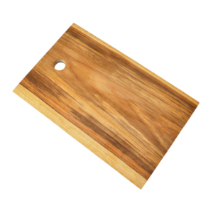 Teak Live Edge Rectangle Cutting Board