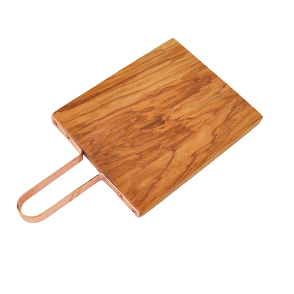 Olive Wood Cutting Board With Copper Handle Naturally Med