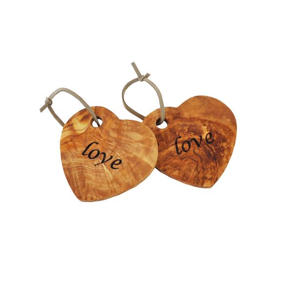 Olive Wood Heart Coaster / Decoration