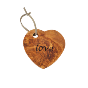 Olive Wood Love Coaster / Decoration
