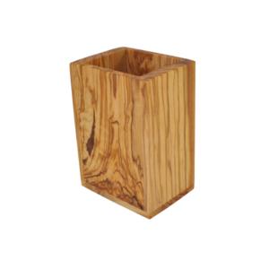 Olive Wood Utensil Holder - Rectangle