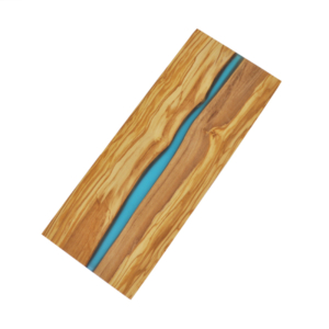 Olive Wood Board with River of Blue Resin