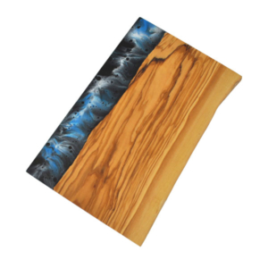 Hand-painted resin natural cutting board