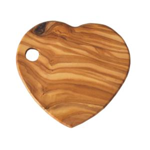 Olive Wood Heart Shaped Coaster (Individual)