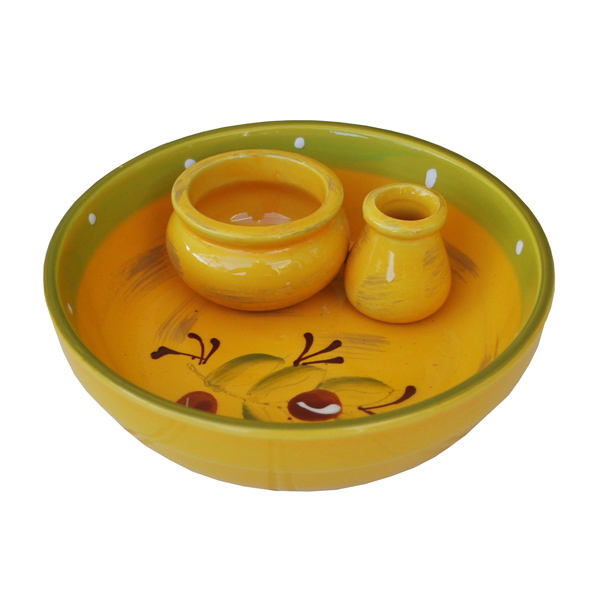 Ceramic Olive Dish - Yellow