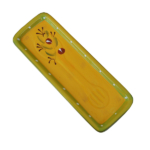 Ceramic Spoon Rest - Yellow and Green