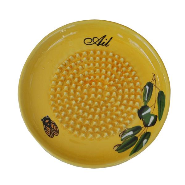 Ceramic Garlic Grater - Yellow